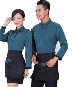 May đồng phục tạp dề bếp HT38